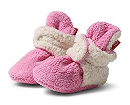Zutano - Cozie Fleece Furry Lined Bootie - Hot Pink - Size 3 month