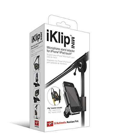 IK Multimedia IP-IKLIP-IPH-IN iKlip Mini Universal Microphone Stand Adapter for iPod Touch and iPhone