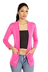 Teemoods Womens Viscose Shrugs -Pink -Large
