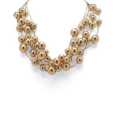 Goldtone Beaded Necklace