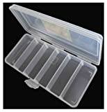 ToolUSA Clear Plastic Storage Box With Removable Dividers: TJ-48822