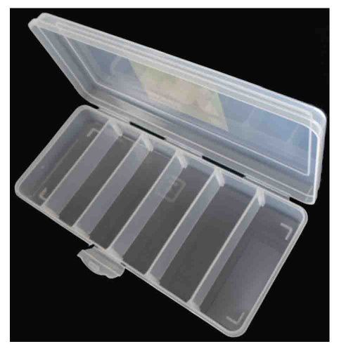 10 5 X 4 5 X 1 75 Clear Plastic Storage Box With 6 Divided