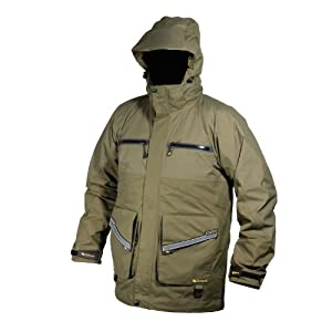 Wychwood 3 4 length waterproof fishing jacket for Waterproof fishing jacket