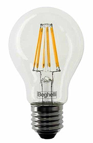 Beghelli art. 56402 lampadina ZafiroLED Goccia 7W E27 2700K