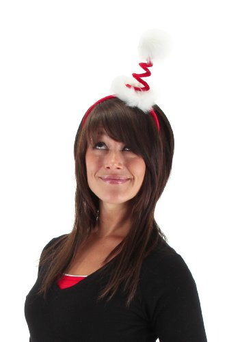 elope Cocktail Springy Santa Headband, Red, One Size