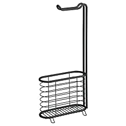 InterDesign Forma Steel Magazine Stand, Matte Black
