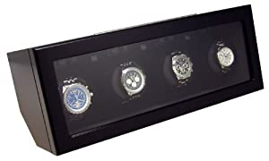 Heiden Prestige Quad Watch Winder - Black