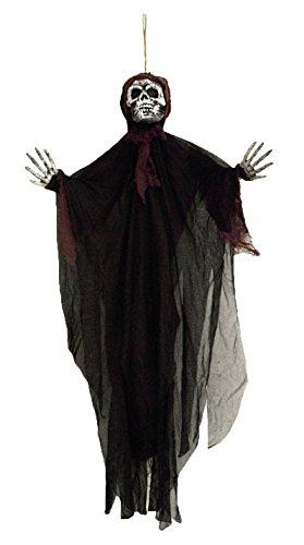 Skeleton Ghost Purple Hanging Halloween Figurine