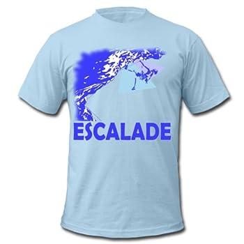 Spreadshirt, climb 0 by dk, Tee shirt American Apparel Homme, bleu pâle, XXL
