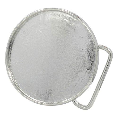 Buckle Rage Adult Unisex Craft Add Design Blank Plate Belt Buckle Circle Silver