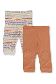 2 Pack Cotton Rich Assorted Leggings [T78-4878N-Z]