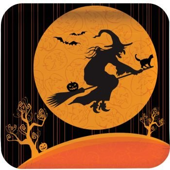 Witch's Crossing Halloween 9-inch Paper Plates 8 Per Pack