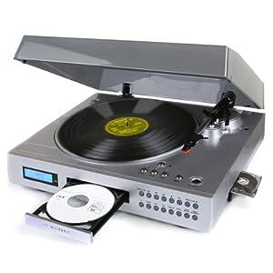 Neostar Vinyl2CD USB Turntable Player USB Record Silver