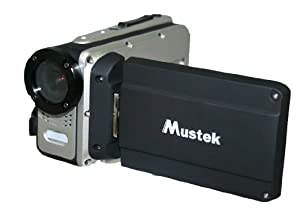 Mustek HDV527W HD Waterproof Digital Video Camera (Black) by Mustek