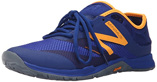 New Balance Hombre 20v5 Minimus Training Shoe, Blue/Orange, 41.5 2E EU