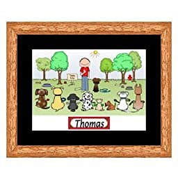 Dog Trainer Cartoon Print - Personalized