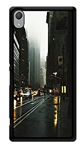 """Humor Gang Rainy City Printed Designer Mobile Back Cover For """"Sony Xperia Z3 - Sony Xperia Z3 Plus"""" (3D, Glossy, Premium Quality Snap On Case)"""