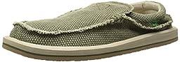 Sanuk Men\'s Chiba Slip-On Loafer, Olive, 10 M US