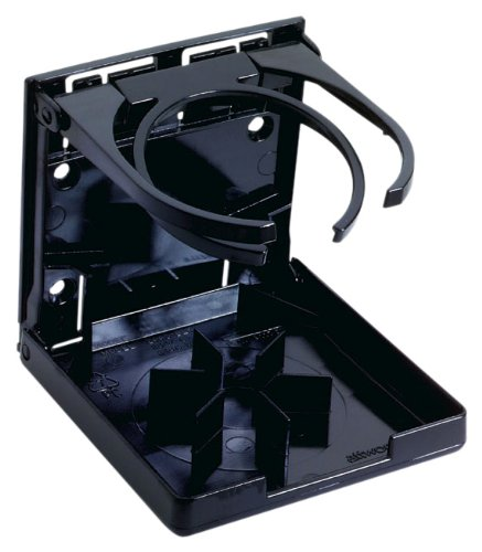 Attwood Fold-Up Dual Ring Drink Holder (Black) front-17293