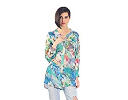 Chique Women's Shirt (bluebds1_Blue_Medium)