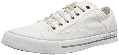 G-Star CAMPUS RAW Scott III Wash, Low-Top Sneaker uomo, Bianco (Weiß (White Denim D11)), 40