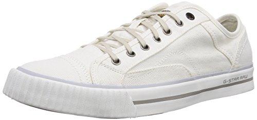 G-Star CAMPUS RAW Scott III Wash, Low-Top Sneaker uomo, Bianco (Weiß (White Denim D11)), 40