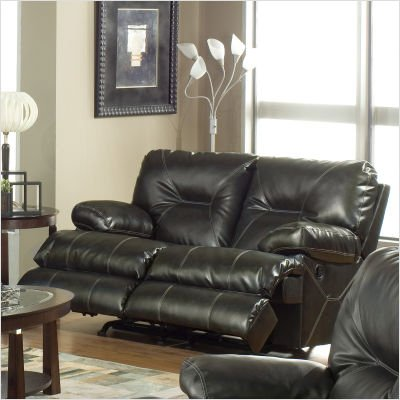 Buy Low Price Catnapper Cortez Bonded Leather Dual Rocking Loveseat in Brown (B003AM4GYQ)