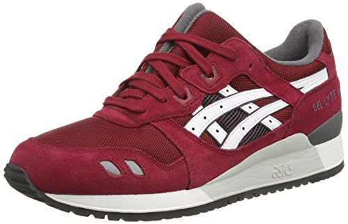 ASICS - Gel-Lyte Iii, Sneakers Basse da unisex - adulto, marrone (burgundy/white 2301), 41