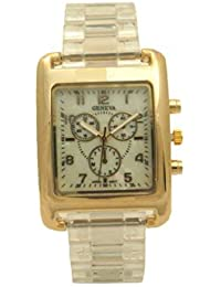 Clear Nacre Dial Triple Crown Chronograph Diver Style Gold Stainless Steel Actress Women Watch