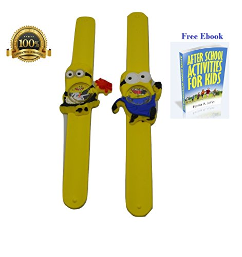 Kids Despicable Me Minions, Slap Watch, Girls, Boys Educational -Time Teacher (Minions Movie: Minion Kevin Adult Costume)