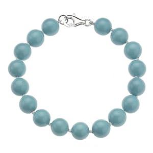 Zeeme Fashion 377260001-7 - Pulsera de mujer de plata con perla cultivada de agua dulce (17 perlas), 20 cm