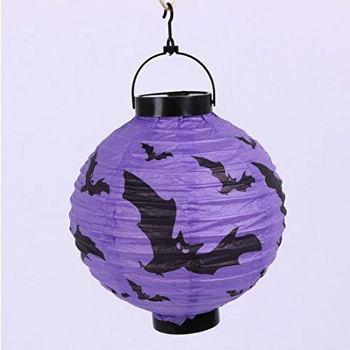 1 Pcs Consummate Popular Halloween LED Nightlight Party Decor Hanging Lamp Horror Style Bat Color Purple (Motorized Oil Lamps compare prices)