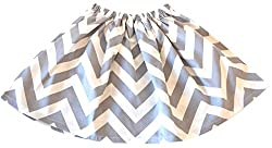 BTS Chevron Cotton Little Girl / Toddler Skirt (Small, Grey)