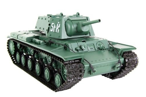 XciteRC-35522000-Ferngesteuerter-RC-Panzer-Modellpanzer-KW-1-Ready-to-Race-Standard-116-grn