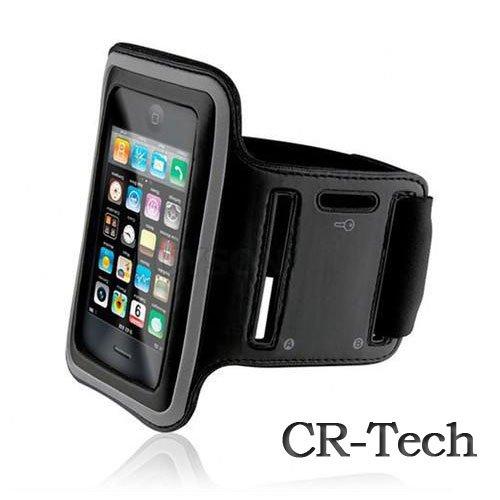 【CR-Techオリジナル】iPhone4/4S/3G/3GS/iPod touch対応 スポーツ アームバンド(ブラック)