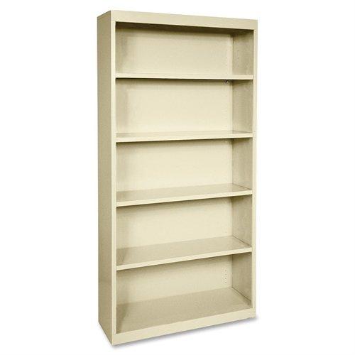 Lorell LLR41290 Fortress Series Steel Book Case, Putty Series Steel 3 Shelf Bookcase