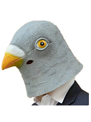 Skue Deluxe Latex Animal Head Mask Halloween Costume Party-Pigeon (Giraffe Deluxe Latex Mask)