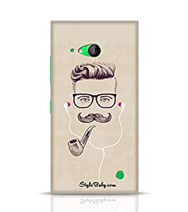 Stylebaby Hipster With Smoking Pipe And Earphones Nokia Lumia 730 Phone Case