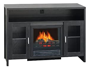Quality%20Craft Quality Craft MM906L42FBK 1250-watt  Electric Fireplace Heater with 33-Inch Mantel Ideal for Flat Screen TV, Black at Sears.com