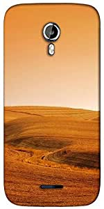 Snoogg desert background Designer Protective Back Case Cover For Micromax A117