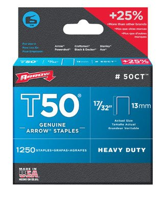 "Arrow 50Ct24 Ceiltile T50 Staples, 17/32"" (Pack Of 4)"