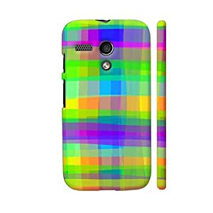Colorpur Psychedelic Fabric Texture Pattern Designer Mobile Phone Case Back Cover For Motorola Moto G1 | Artist: BluedarkArt