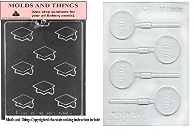 Diplomas and Graduation chocolate candy mold and 2016 graduation chocolate candy mold With © Candy Making Instruction
