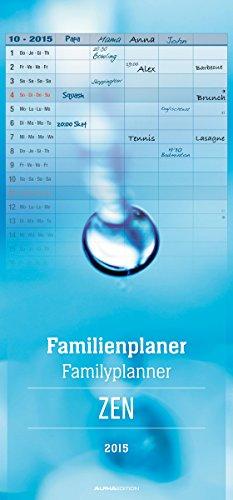 Familienplaner Zen 2015 - Familientermine / Familientimer (21 x 45) - 5 Spalten, Buch