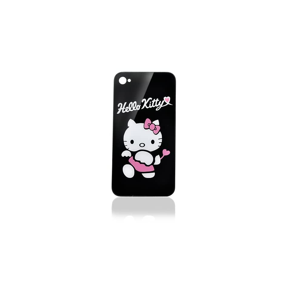 iPhone 4 Back Glass   Hello Kitty   Black