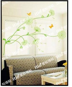 Dandelions - Large Wall Decals Stickers Appliques Home Decor