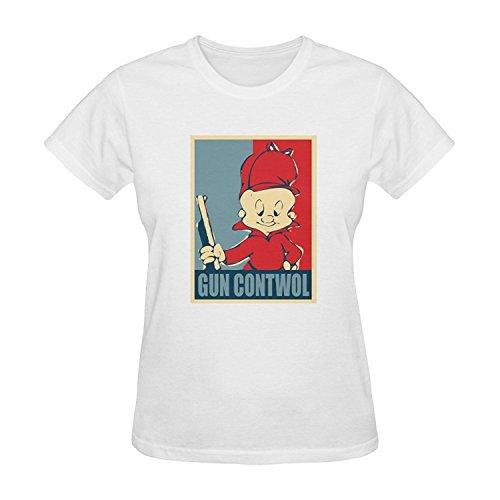 womens-elmer-fudd-pattern-short-sleeve-t-shirt