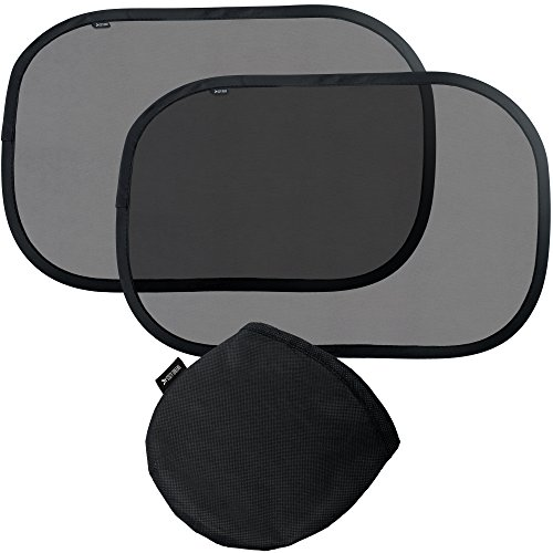Cozy Greens® Car Window Shade (2 pack) | Baby Car Sun Shade | UPF50+ Protection 97% UV Rays Blocked | FREE Carrying Pouch, Car Games eBook | Cling Sunshade for Kids | Lifetime Satisfaction Guarantee (Baby Car Window Shade compare prices)