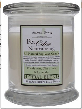 Aroma Paws 331 12 Oz. Odor Candle-Herb - Herbal