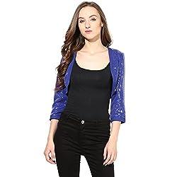 Short Shrug In Blue Color Sequin